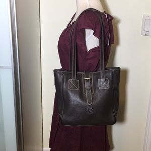 Dooney and Bourke Brown leather tote purse